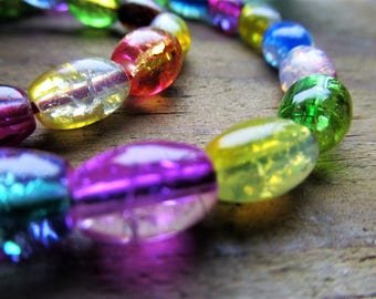 GLASS RAINBOW BRACELET