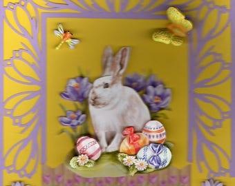 3d Easter card Bunny 5