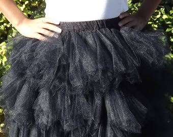 Handkerchiefs with black tulle skirt