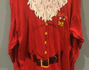 Vintage Santa Claus long sleeve shirt