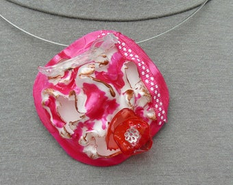 necklace made from recycled materials