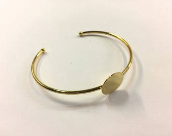 2 bracelets Bangle set 15mm for jewelry designs