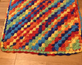 Hand Crocheted Party Time Baby Blanket