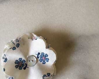 Handmade fabric flower corsage