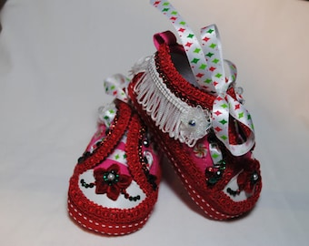X-Mas Joy Girl's Baby Shoes 6-9 months