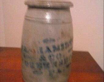 Mid Century - Antique J Hamilton & Co. Pottery / Stoneware Waynesboro, P.A.