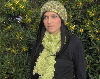 Green lime OMBRE scarf