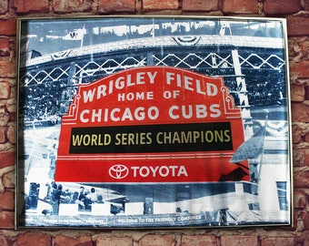 Chicago Cubs Art Framed World Series Large Print Fine Art Poster