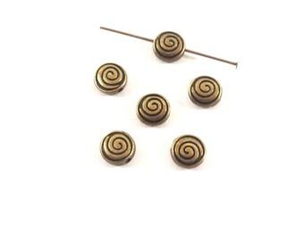 set of 10 beads puck spiral pattern (Ref.48)