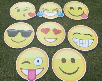 Emoji yard sign