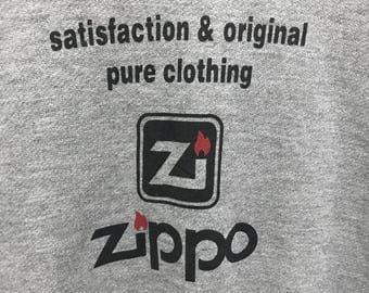 Rare!!! Zippo Sweatshirt Pullover Spellout Logo