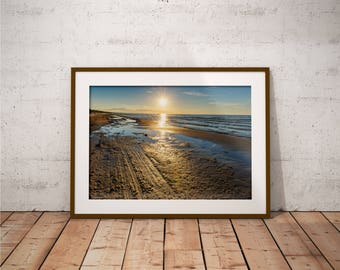 Metal Print - Sun & Sea, Landscape Photography - Metalic Aluminum Print, Fine Art, Wall Art, Nature Print, Home Decor, Photography