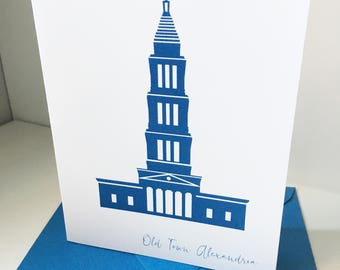 George Washington Masonic Temple Alexandria Virginia Old Town Card
