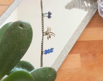"""Dragonfly"" charm bracelet"