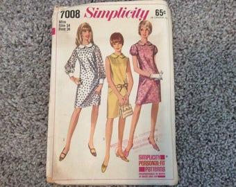 Simplicity Dress Pattern 1960s