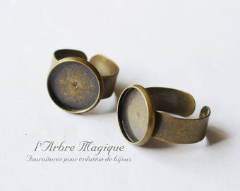 4 rings for bezel bronze 14 mm x 4