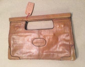 Vintage Pappagallo Leather Clutch made in Brasil