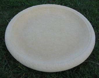 Replacement Bird Bath Bowl - heavy durable concrete - UK hand cast - 35cm diameter