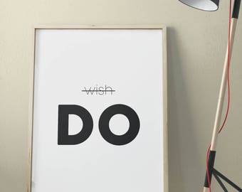 Poster printable 120x80cm WISH DO decor wall Poster High Quality download • • • •