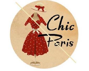 "cabochon dress ""chic feminine"", 20 mm"