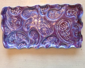 Purple Paisley Tray