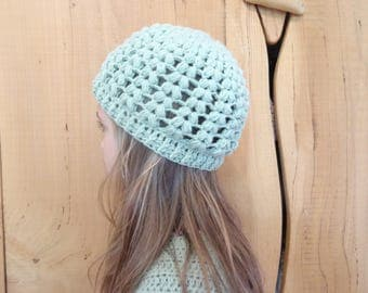 Almond Hat 8/10 years old girl, crocheted, customize