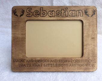 Custom Wood Burned Picture Frame
