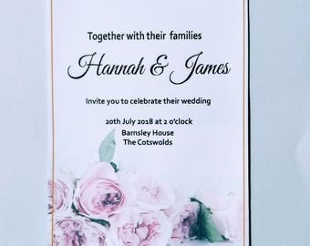 Rose Invitation Set *SAMPLE*