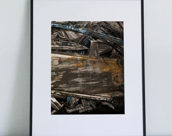 Rusted Metal, Photographic Print, 11x14