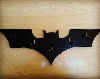 Batman rack, Superhero rack, Coat rack, Hat rack, Towel rack, Batman logo inspired rack, Coat hanger