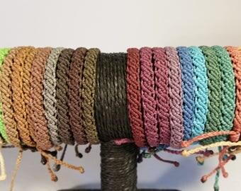 Friendship bracelets in different colors
