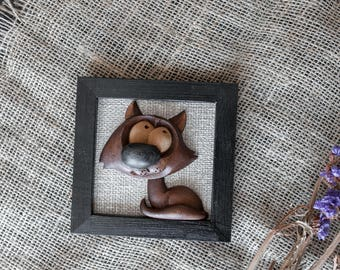 3d frame decor wall cat 3d art picture wood country frame wooden cat decor wall wood animal lover wood gift