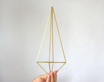 Brass Himmeli Decor, Modern Minimalist Himmeli Mobile, Geometric Ornament, Air Plant Holder