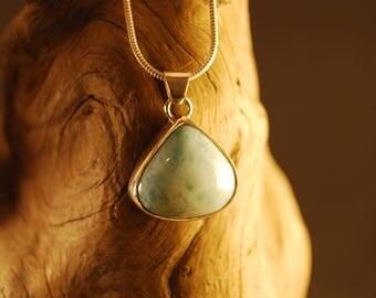 "Silver Pendant handmade and original ""larimar"""