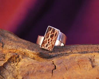 """Original and handcrafted silver ring """"madera cactus"""""""