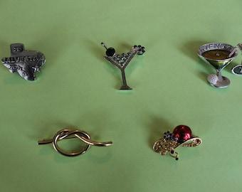 Lot of 5 various pins