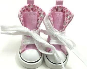 6CM Canvas Shoes For Paola Reina Doll,Fashion Mini Toy Gym Shoes for Minifee 1/4 Doll,Bjd Doll Footwear Sports Shoes for Corolle Les Cheries