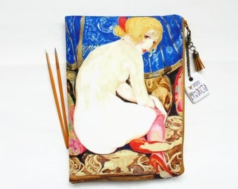 Gifts for her, 1920s  Risque flapper girl,  wash bag, travel bag, cosmetic bag, zip bag, make up bag, large makeup bag.