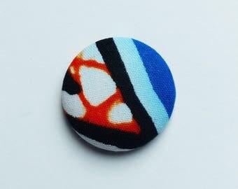 orange & blue wax #6 * 2,8 cm magnet