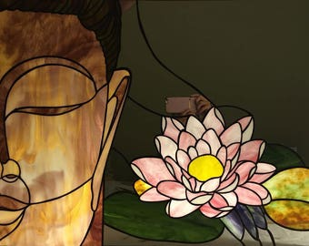 Buddha with lotus flower