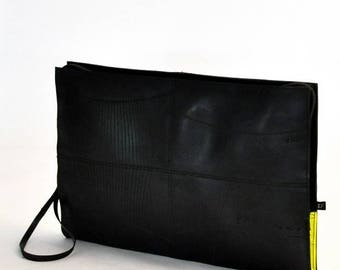 """Laptop case laptop 15 """"in inner tube recycled and fluorescent yellow"""