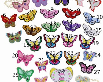 butterfly Patch patch Embroidered sew on patch iron on patch Applique style 15