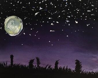 Night Sky Original Acrylic Painting