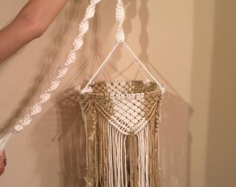 Macrame mobile/ chandelier hanging