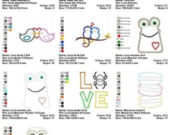 10 Designs Applique Machine Embroidery SET 5