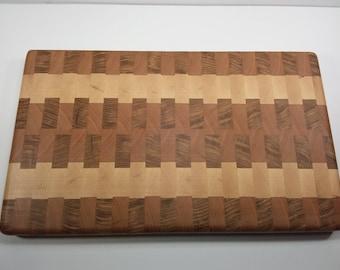 Multi end grain wood cutting board