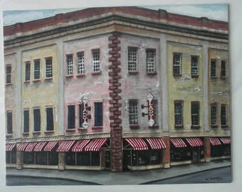Lady n Son Building, Savannah, Georgia, Collection, Puzzle Art, Architecture, Whimsical