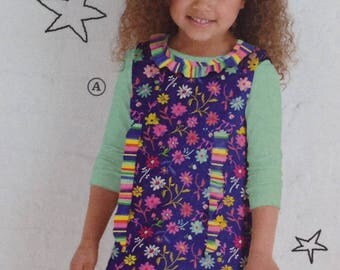 Simplicity Little Lisette Sewing Pattern 2063, Childs Dress, Childs Jumper, Ruffled Dress, Size 3-8, OOP