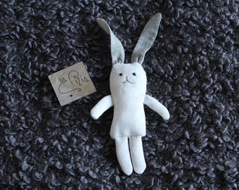 Fabric Bunny with embroidered details