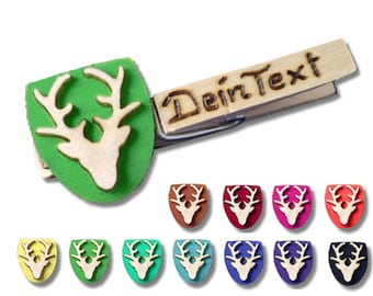 Glubbal (Glupperl) deer head - with text